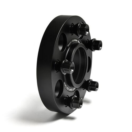 Fits Mini Cooper S F54 F56 F57 F60 5x112 Black Wheel Spacers Adapters 1inch 2Pc