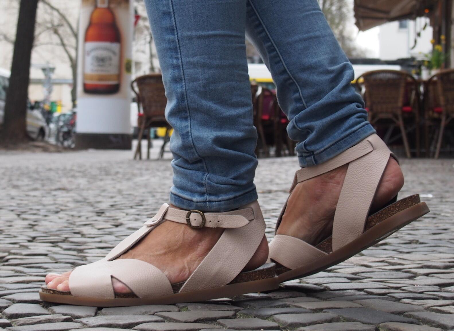 LILIMILL DamenSandaleeen QUICK nude 5945 rose Echtleder Sandaleetten Fußbett NEU