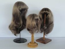 "100% Human Hair DOLL WIG  6.9"" (17.5 cm). Long hair - Georgette BRAVOT - FRANCE"