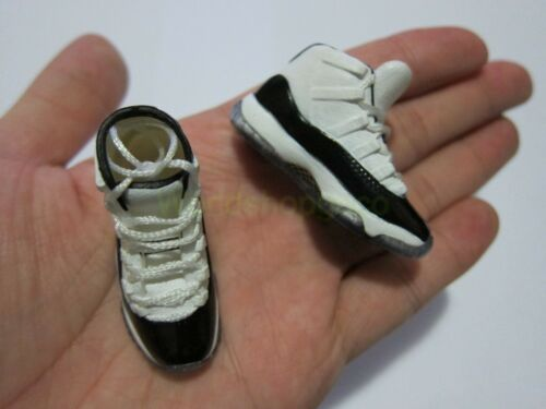 "1//6 Scale Sneakers Sports Trainers Air AJ11 White Black for 12/"" Action figure"