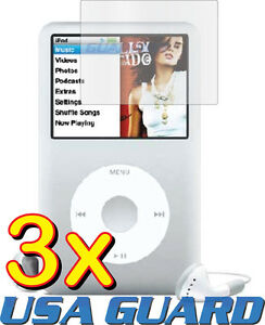3x-Clear-LCD-Screen-Protector-Guard-Cover-Film-for-Apple-iPod-Classic-80-120-160