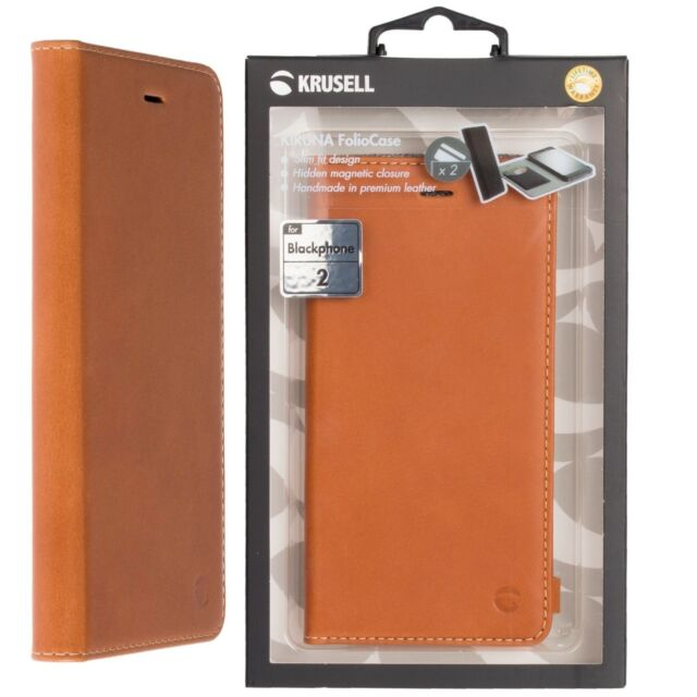 uk availability 53eb2 36791 Krusell Kiruna Official Silent Circle Blackphone 2 Leather Camel Flip Case