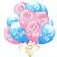 Baby Shower Gender Reveal Balloons Birthday Party Decor Black Pink Blue Boy Girl