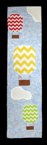 """Row by Row 2017 /""""On the Go/"""" Hot Air Balloons Sky Air Quilting Pattern M401.14 Z"""