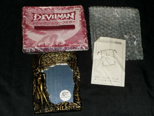 Vintage 1998 Devilman Silene Gold Frame Mirror Relief UFO Prize Banpresto