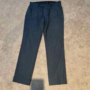 Nordstrom Tienda De Pantalones De Vestir Para Hombre Charchoal Gris Cintura 33 P66 Ebay
