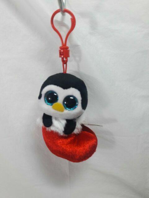 Plush Penguin Keychain Keyclip Bag Hanging Ornament Decoration Accessories