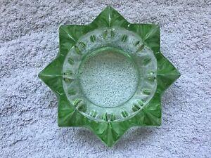 Green-Octangle-Depression-Glass-Ashtray