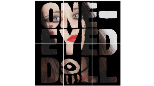 """ONE EYED DOLL LARGE 23.5/"""" x 24/"""" MOSAIC  POSTER OR ONE A4 PRINT Kimberly Freeman"""