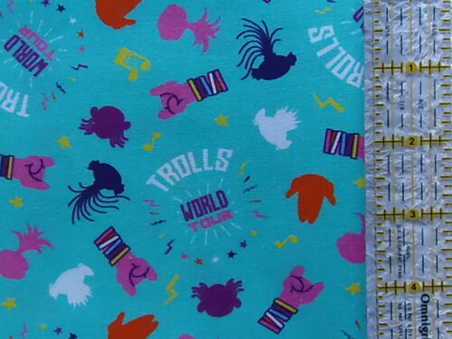 NEW /& HTF Springs Creative Group AQUA TROLLS PARTY ICONS *FQ or By-the-Yard*