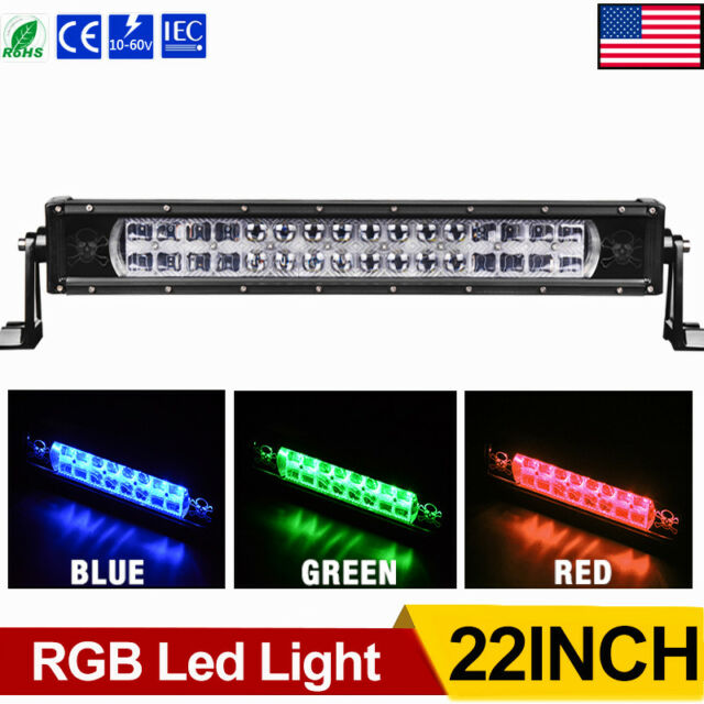 22 inch 540w osram led work light bar spot flood combo offroad multicolor rgb 22inch led light bar 320w 32000lm spot flood combo strobe driving asfbconference2016 Images