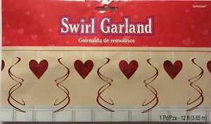 12ft-Foil-Heart-Swirl-Garland-Romantic-Valentines-Day-Wedding-Party-Decoration