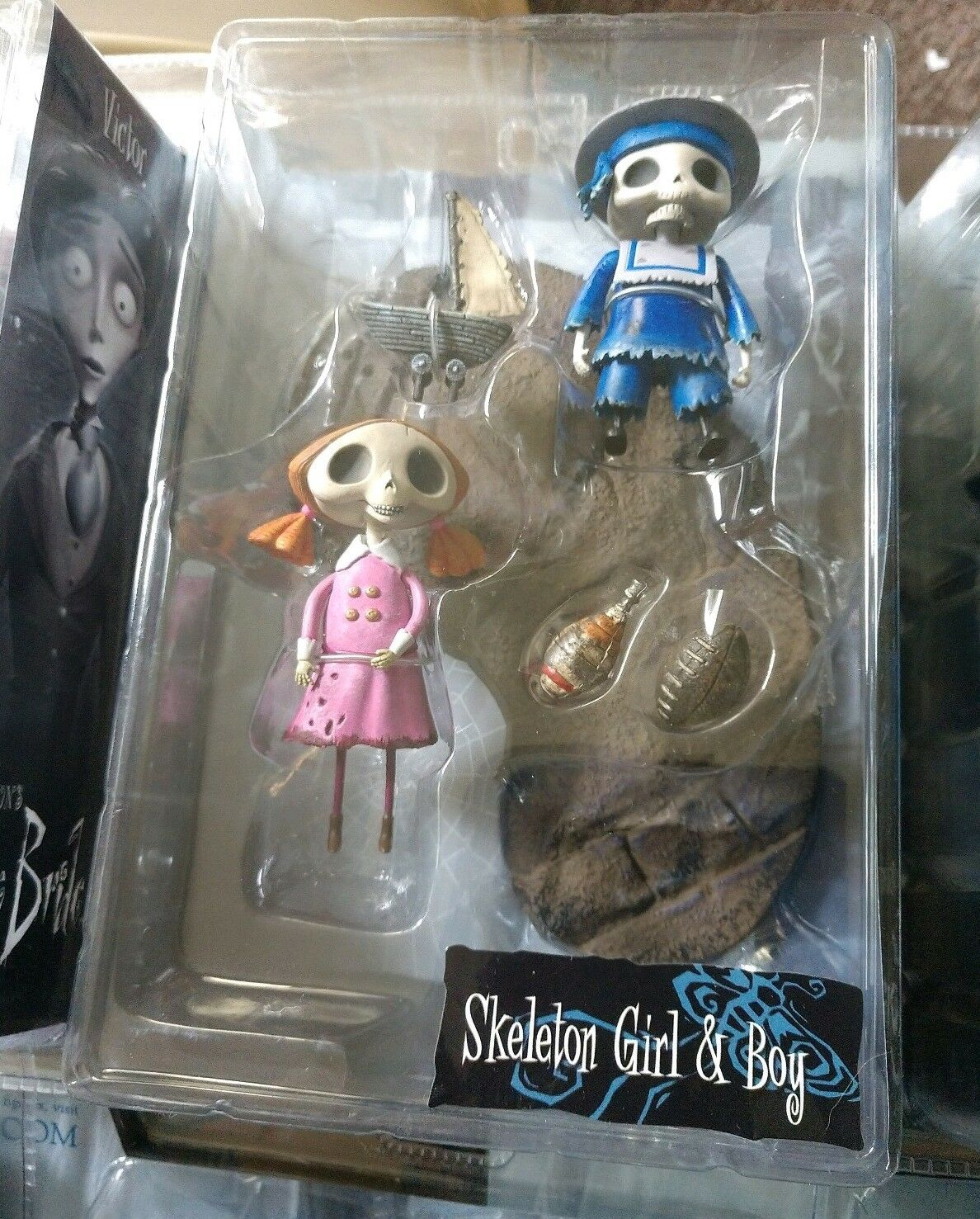 Tim Burton's McFarlane Corpse Bride Action Figure Skeleton Skeleton Skeleton Girl and Boy New 908594