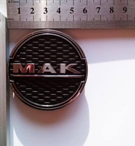 1 x Mak Centro Ruota Tappo Nero Cromato 60 mm 8010002570 Mak Fatale Zenith
