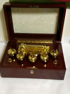 MR CHRISTMAS GOLD LABEL GRAND CONCERTINA WOODEN MUSIC BOX ...