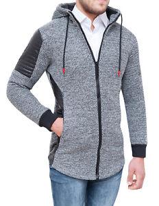 size 40 0746f 5e6ed Tweed Uomo Grigio Cardigan Casual Con Giacca Invernale ...