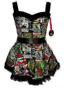 NEW-BLACK-B-MOVIE-DRESS-HORROR-HALLOWEEN-NIGHT-OF-LIVING-DEAD