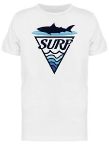 Surf Board Shark Waves Graphic Tee Men's -Image by Shutterstock