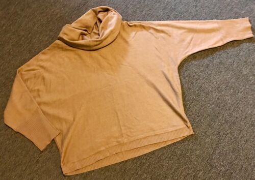Ladys Sweater, Oversized M, Redoute, Brown, Cowl N