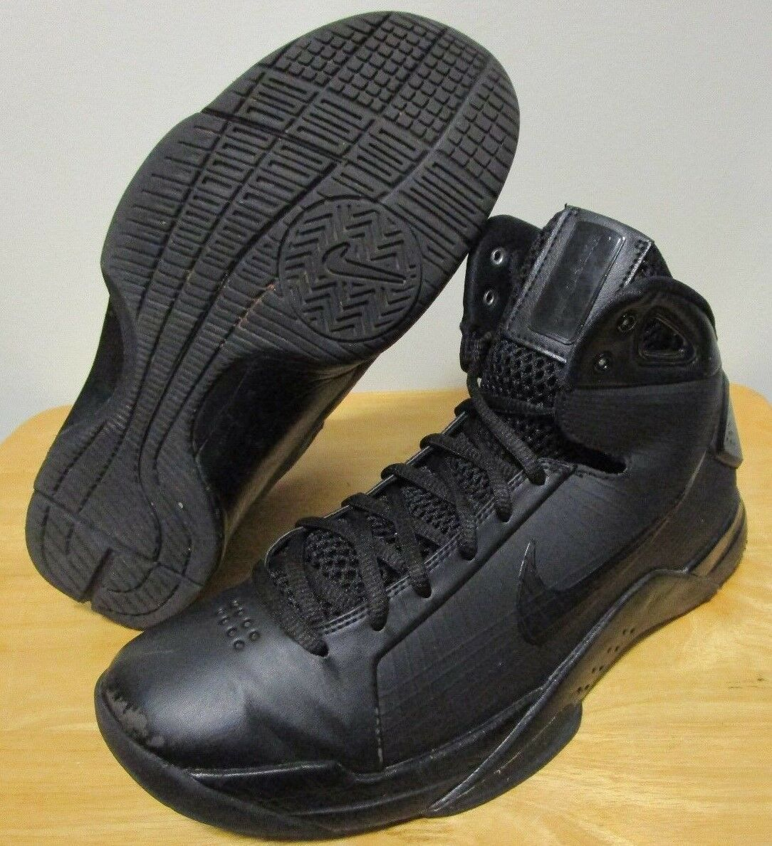 4ce386547a6c NICE 2016 Nike Hyperdunk  08  08  08 All Black Blackout Men s Basketball  Shoes