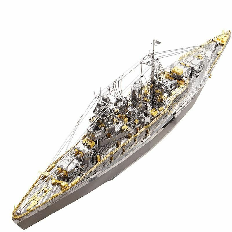Piececool 3D Metal Nano Puzzle Nagato Class Battleship Warship Model Kits P091-S