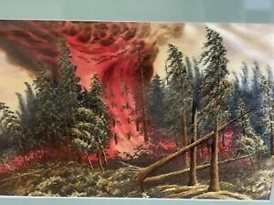 Vintage-Japanese-Silk-Embroidery-After-The-Forest-Fire-Painting-Frame-1950-s