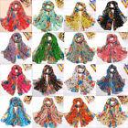 Hot Girls/Ladies Long Cotton Voile Floral Shawl Multi-Colors Scarf Wrap Stole
