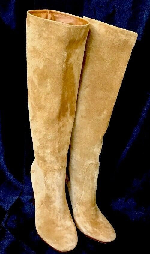 Gianvito Rossi Knee-high Carmel suede boot new size 40