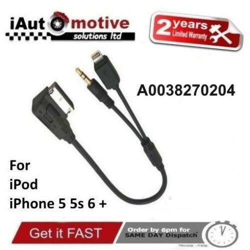 Mercedes clase iPod iPhone C E S 5 Cable de interfaz de audio 6 S SE plomo A0038270204