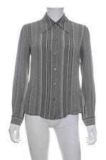 Celine Silk Striped Shirt / Grey