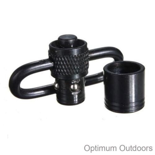 1 or 2 QD Push Button Rifle Sling Swivels Loops w Adapters Gun Swivel Mount 32mm