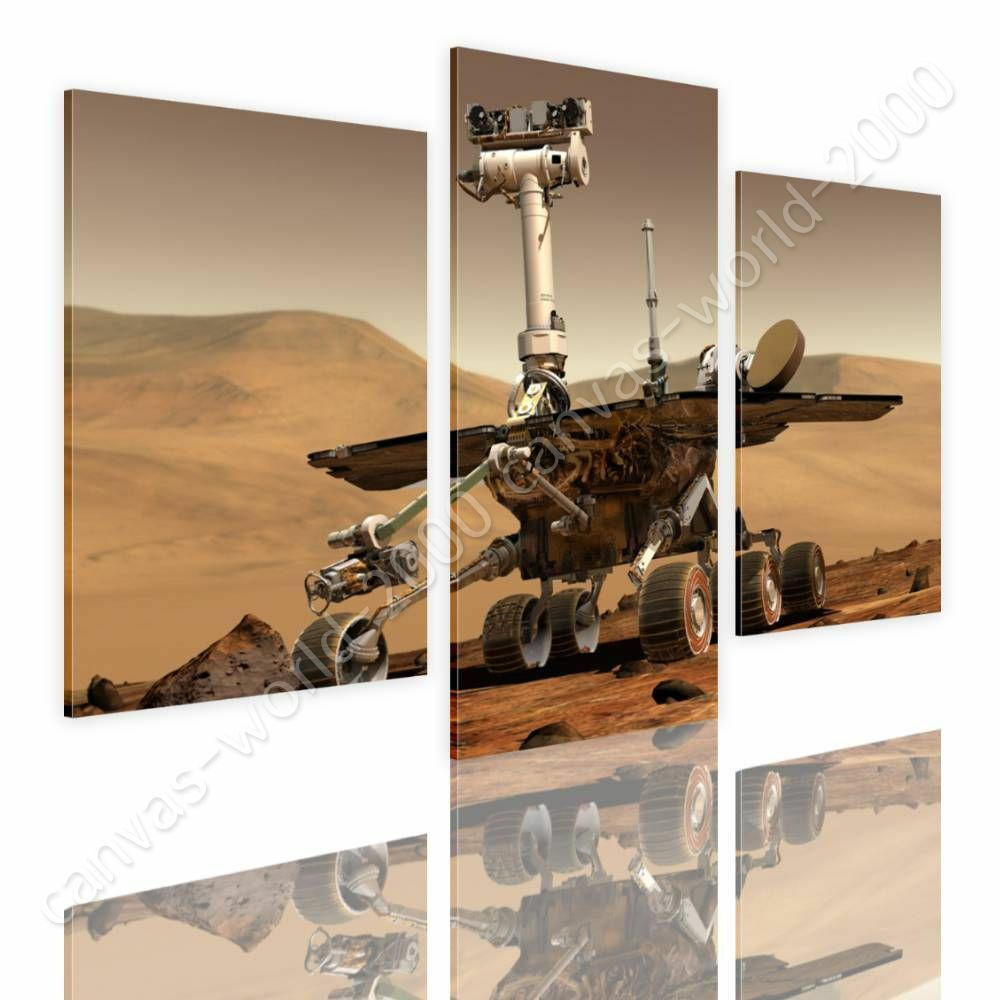 Space Travel by Split 3 Panels   Canvas (Rolled)   3 Panels Wand Kunst HD giclee
