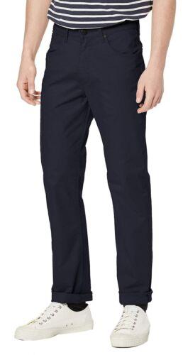 WRANGLER Arizona Stretch Da Uomo Gamba Dritta V6 Pantaloni Chino Jeans Blu Navy in tessuto morbido
