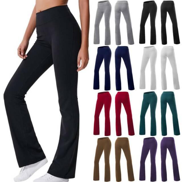 Mopas Women/'s Flare Leg Yoga Pants