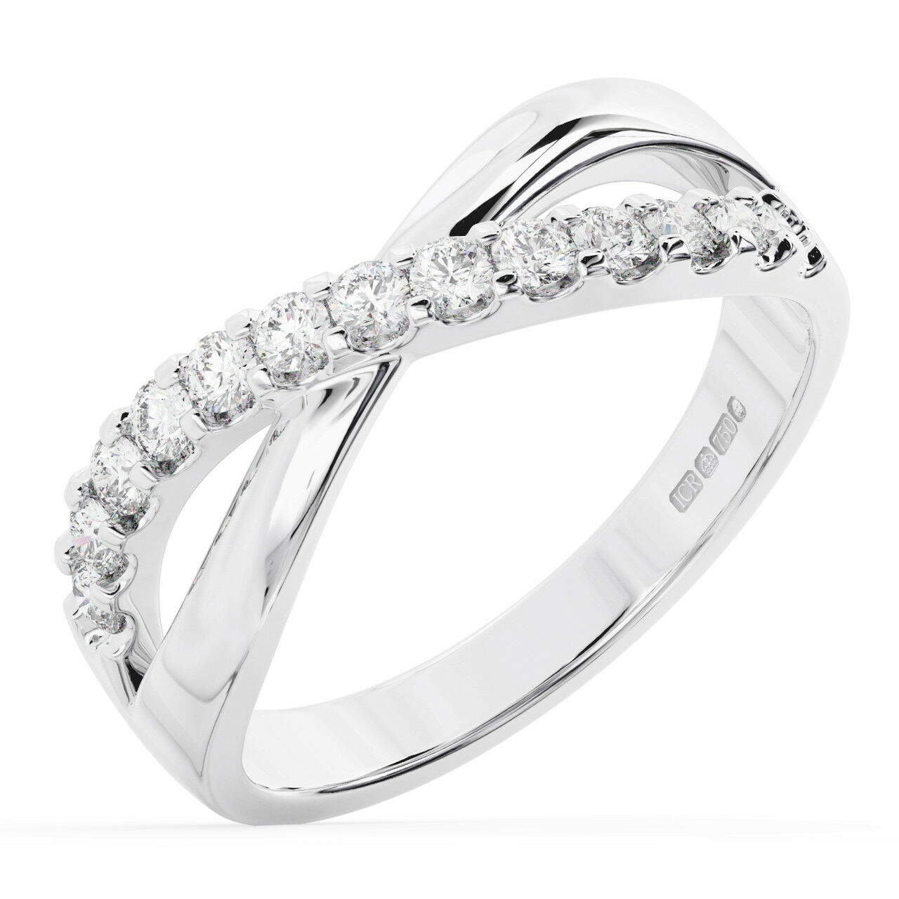 0.40CTClaw Set Round Diamonds Credver Wedding  Ring in Metal 9K gold