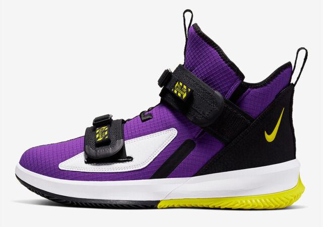 Nike Air Lebron Soldier XIII 13 SFG Sz 15 Ar4225 500 Purple Yellow Lakers