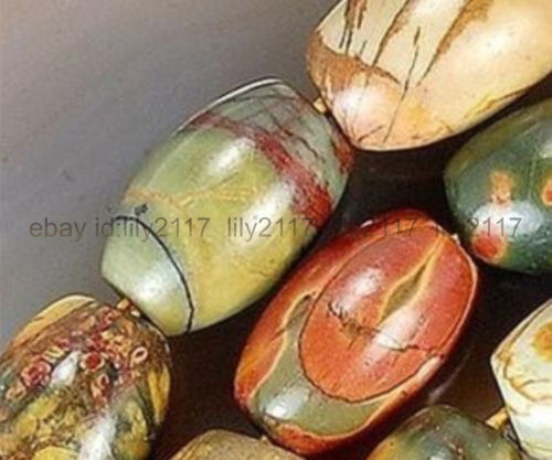 Beautiful 8x12mm Multi-Color Picasso Jasper Gems Rice Loose Beads 15/""