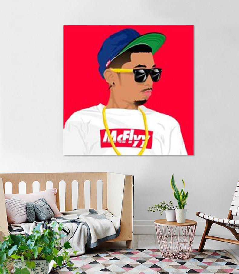 3D Hip hop Mnner 536 Fototapeten Wandbild BildTapete Familie AJSTORE DE Lemon