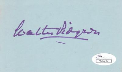 Actor Walter Pidgeon D Madame Curie Jsa V26742 Relieving Heat And Sunstroke 1984 Signed 3x5 Index Card