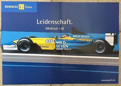 Renault F1 Team R24 Fernando Alonso 2004 Promotion Formula 1 Poster Double Sided Accessoires & Fanartikel