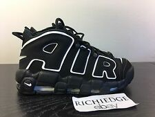 Nike Air More Uptempo BLACK WHITE 2016 SIZE 8 VNDS 100% AUTHENTIC