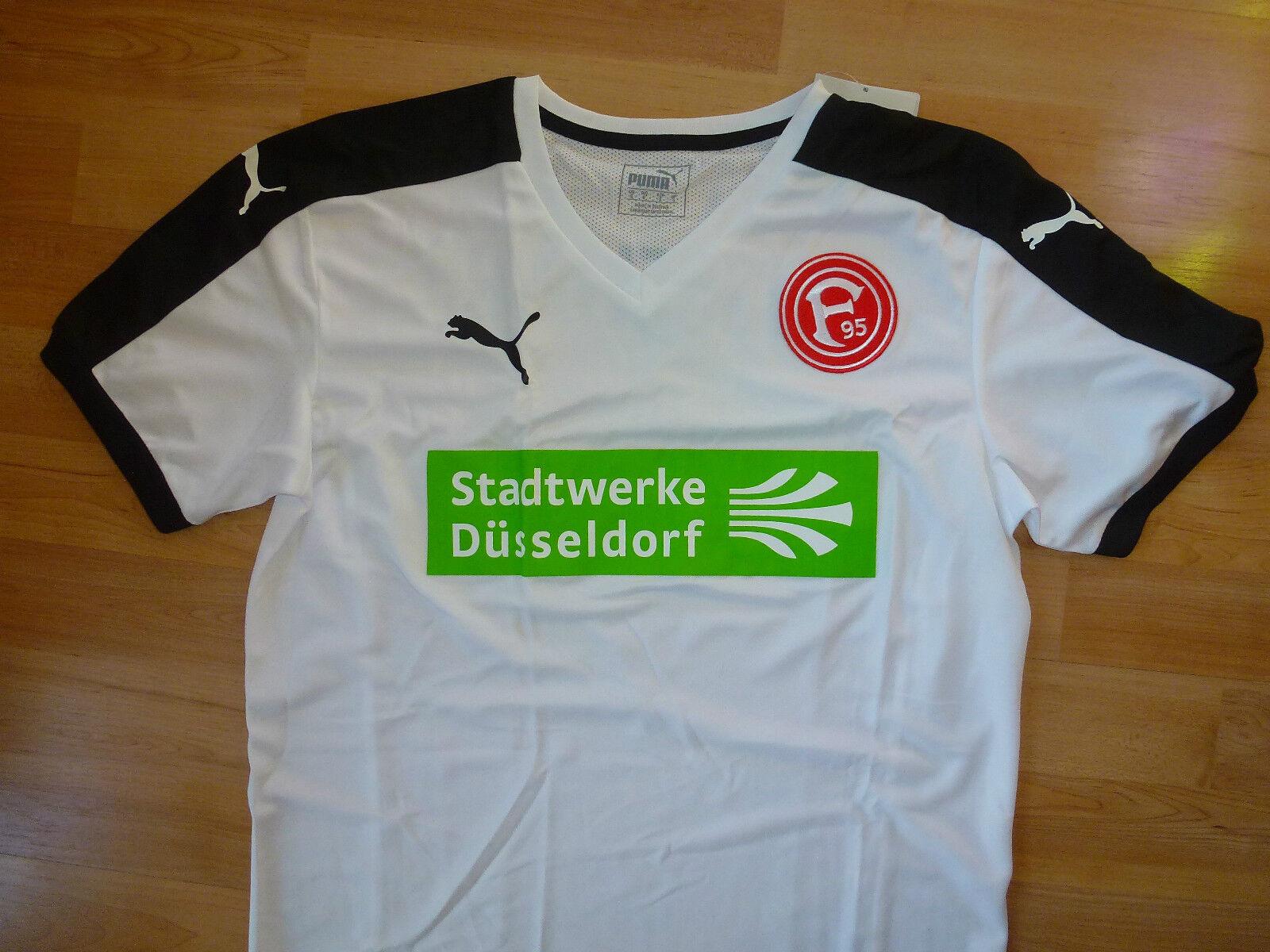 Trikot Fortuna Düsseldorf  mit Stadtwerke Sponsor Logo Gr. S in weiß   NEU