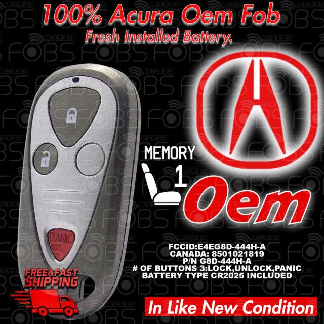 01-06 Acura MDX 06 RSX Keyless Fob Driver Memory #1 E4EG8D