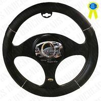 Black Luxury Car Steering Wheel Cover