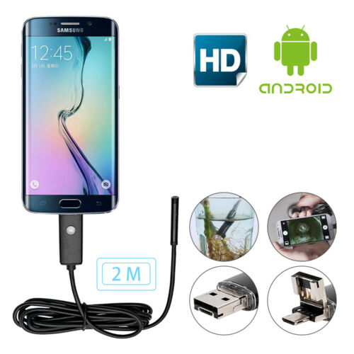 5.5mm 6LED Waterproof Android Endoscope Bores cope Snake Inspection Camera Scope