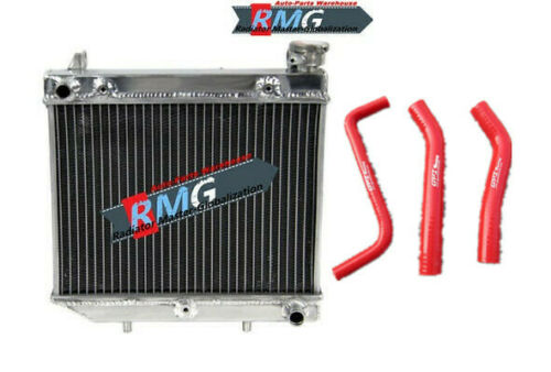 Aluminum Radiator For Honda TRX450R TXR450 2004-2009 2005 2006 07 08 Red Hoses