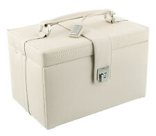 Dulwich Designs Naples Cream Real Leather Jewellery Box Large Size