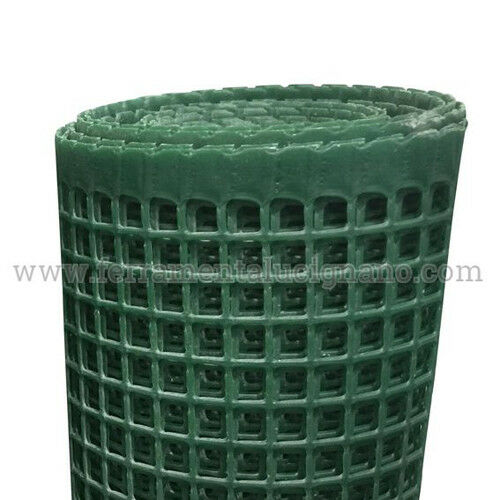 RETE PLASTIFICATA PER RECINZIONI E BALCONI MAGLIA MM.10 X 10 ALTEZZA CM.100