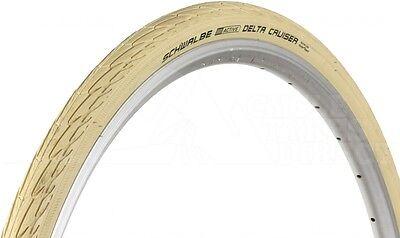 Schwalbe Delta Cruiser Tyre CREAM 700x35c town bike reflex OR non-relfex