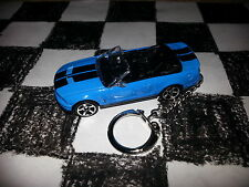2007 SHELBY GT 500 BLUE / BLACK CONVERTIBLE FORD MUSTANG FOB Custom Key Chain